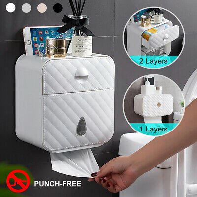 1/2 Layer Wall Mounted Hand Paper Tissue Towel Dispenser Toilet Bathroom Holder