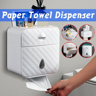 1/2 Layer Wall Mounted Hand Paper Toilet Bathroom Tissue Towel Dispenser Holder
