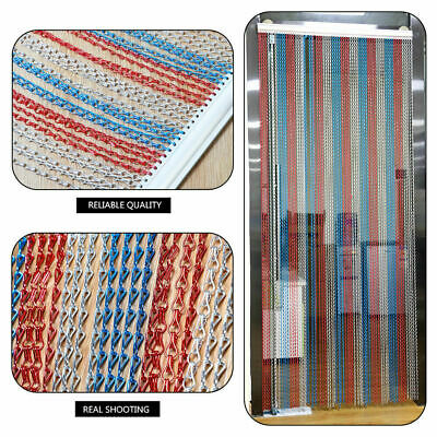 90CM Metal Chain FLY Pest INSECT DOOR SCREEN CURTAIN Control Silver Red Blue IB