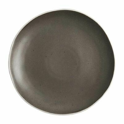 Pack of 6 Olympia Chia Plates Charcoal Porcelain
