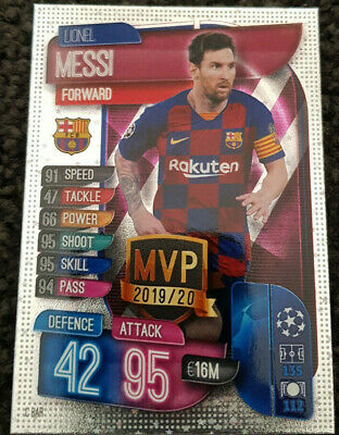 2019/20 Match Attax Football Soccer Cards - Lionel Messi MVP Buy 3 Get 1 FREE