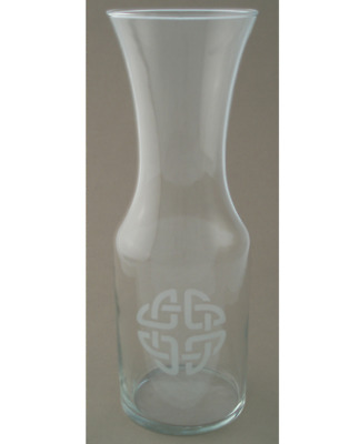 Wine Carafe Etched Celtic Knot 1 Liter Perfect Irish Souvenir