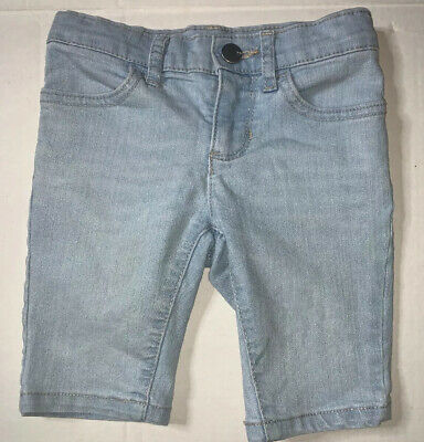 Preowned- The Childrens Place Stretch Denim Capris Girls (Size 4)