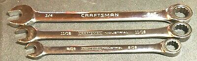 3 Ratcheting Wrenches: 2 Craftsman Industrial, 1 Craftsman Sae 72 Teeth
