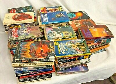 Vintage Science Fiction Fantasy Sci-Fi Cool Collection Paperback Book Lot of 100