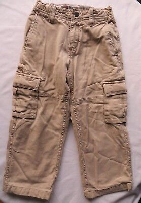 GAP Kids Cargo Flannel Lined Cargo Pants Khaki Beige Warm Boys 5