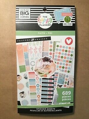 """NEW! me & my big ideas The Happy Planner """"FAITH"""" Value Pack Stickers 689 Pcs."""