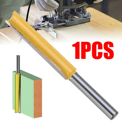 """US 2"""" Extra Long Straight Router Bit w/Two Flute 1/4 Shank Woodworking Cutter"""