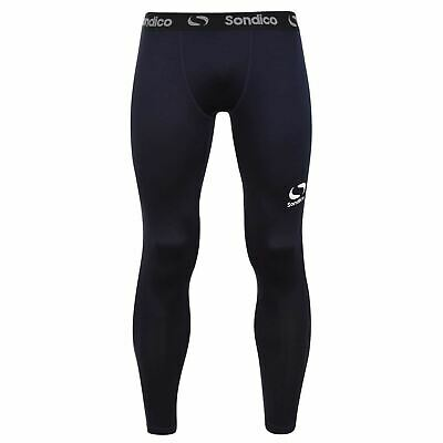 Sondico Core Baselayer Tights Mens Navy Football Soccer Training Pants