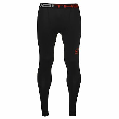Sondico Thermal Baselayer Tights Mens Black Football Soccer Training Pants
