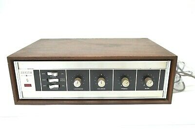 Zenith Amplifier Solid State Model E9029 Faux Wood Vintage