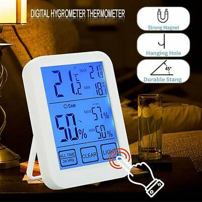 LCD Digital Hygrometer Thermometer Humidity Outdoor Indoor Room Touch screen  CA