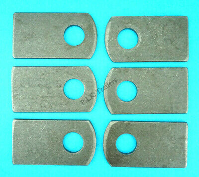 6 x Weld-on Eye Plates for M12 Antiluce Drop Lock Catch Side Tail Gate Fastener