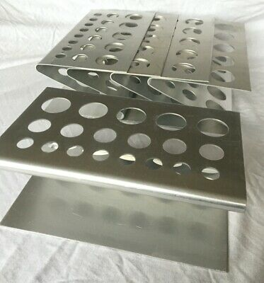 Test tube rack / Z rack / Test tube Z racks - Pack of 5. New. Free postage.
