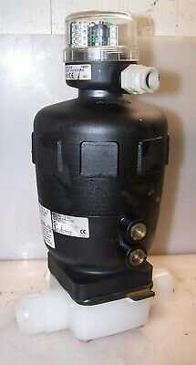 New Burkert Syst-2030 Diaphragm Valve With Mechanical Switch No Nc Actuator