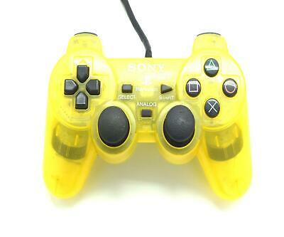 Official Original Sony PS2 Playstation 2 Controller Lemon Yellow Grade C