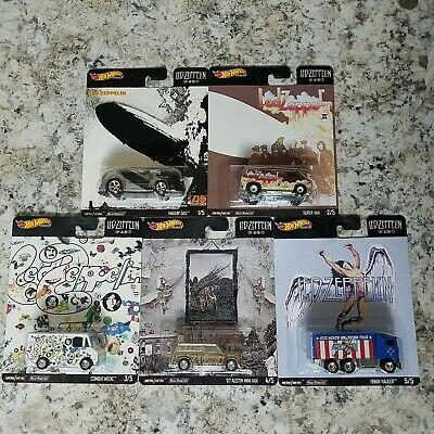 2020 Hot Wheels Pop Culture Led Zeppelin Complete 5 Car Set Free Same Day Ship