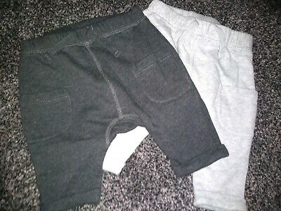 Baby boys NEXT 2 pairs of NEWBORN joggers upto 10lb Excellent Condition