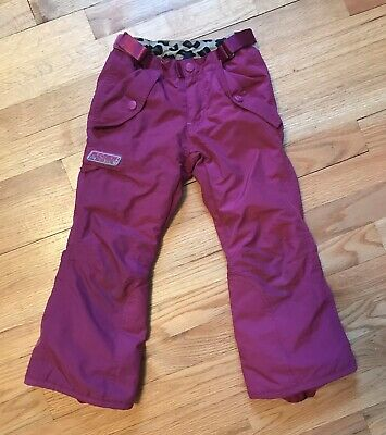 The Childrens Place Insulated Snow Ski Snowboard Pants, Pink Plum, Kids Girls 4