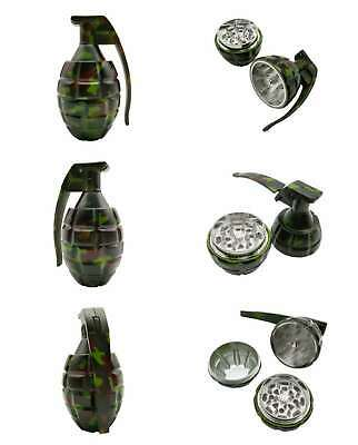 1XCollectible Grinder Hand Grenade Style Pocket Size Herb Camouflage UK SUPPLIER