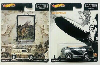 Hot Wheels 2020 Pop Culture Led Zeppelin 2 Car Set -Haulin Gas & Austin Mini