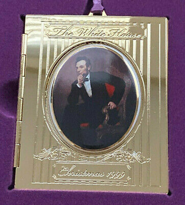 White House Historical Association Christmas Ornament 1999 New w Box Lincoln