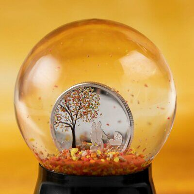 2018 Cook Isl. $1 Indian Summer Globe Silver Coin