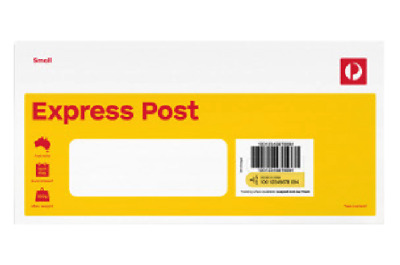 NEW Australia Post 10 x Express Small Envelopes DL Window Face Prepaid Tracking!