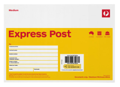 NEW Australia Post Pack of 10 x Express Medium Envelopes C5 Prepaid & Tracking!