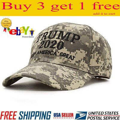 Trump 2020 MAGA Camo Embroidered Hat Keep Make America Great Again Cap A+++ NEW