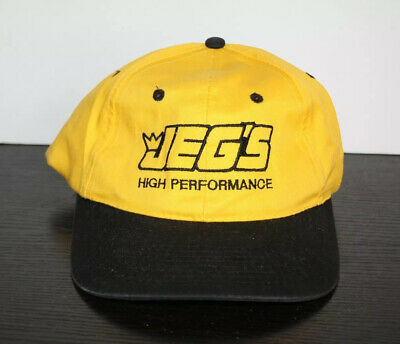 Jegs Hat Yellow High Performance Headwear Cap Racing Equipment Gear New Racing