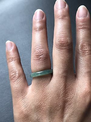 Gemstone Genuine 100% natural green jadeite jade ring band grade A