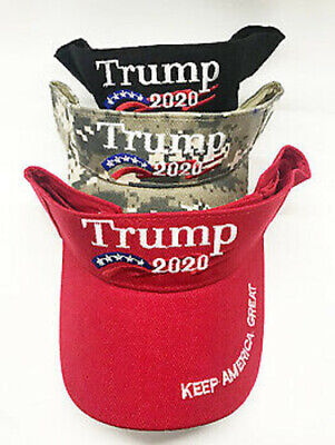 """Trump 2020 Keep America Great"" Embroidered Visor You Choose Red Black Camo New!"