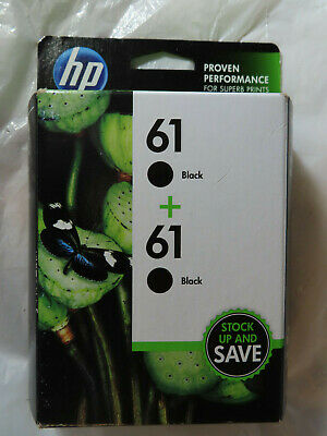 Genuine Hp 61 Original 2 Combo-Pack Ink Cartridges 61 Black+Black Brand New