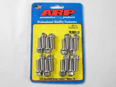 """ARP 400-1108 Header Bolts 5//16/"""" Hex Head Stainless Set of 16 .750/"""" UHL BBC//Ford"""