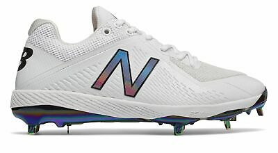 New Balance Low-Cut 4040v4 Metal Baseball Cleat Mens Shoes White Size 16 D
