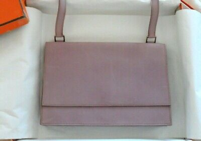 AUTHENTIC HERMES Beautiful Lilac Color Valentine Shoulder Handbag **RARE**IN BOX