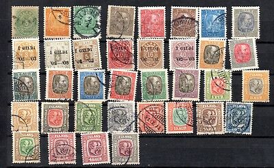 LOT 36 Stamps ICELAND ISLANDA period 1897 1908 (C.V. ABOUT 240€)