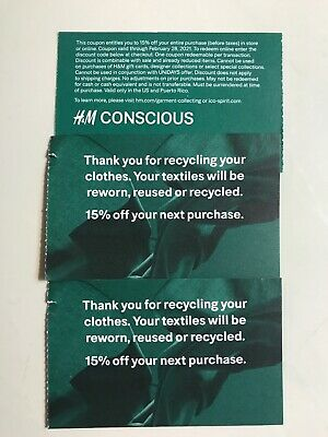 (3) H&M 15% off entire purchase coupon Store & Online Expire Feb /28/2021