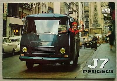 PEUGEOT J7 COMMERCIAL VEHICLES RANGE Sales Brochure July 1971FRENCH TEXT