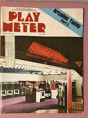 Play Meter Magazine June 1, 1981 w/Bally Eight Ball Deluxe Roger Sharpe Review