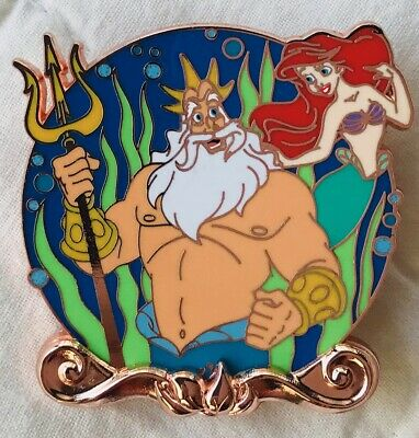 Disney Pin - Little Mermaid 30th Anniversary - Ariel & King Triton - LE 2000