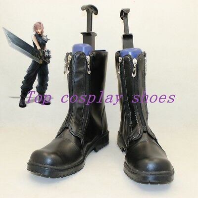 Anime Final Fantasy VII Cloud Strife Fancy Zippered Cosplay Boots Shoes