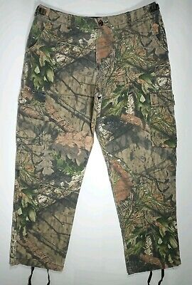 CABELA'S Camouflage Hunting Pants Mossy Oak Camo Mens Size 36x30 Cotton Poly
