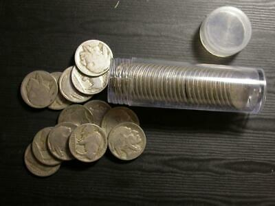 No Date (Dateless)Buffalo Nickel Roll W/40 Coins 20% Are D or S With Bonus Coins