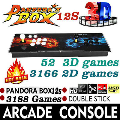 Newest Pandora's Box 12s 3188 In 1 Video Games Arcade Console Support 2 Players