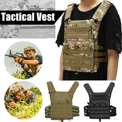 Military Tactical Vest CS Paintball Airsoft Hunting Molle Mag Assault Pouches m