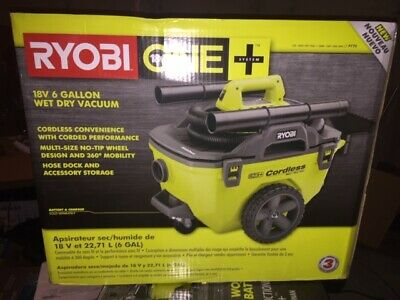 RYOBI 18-Volt ONE+ 6 Gal. Cordless Wet/Dry Vacuum (Tool Only)