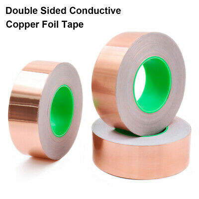 1 Roll Double-Sided Conductive Copper Foil Tape Self Adhesive EMI Shielding
