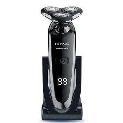 Men Electric Shaver 3D Triple Floating Head Rotary Rechargeable Trimmer Razor AU